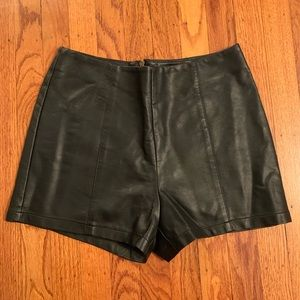 Urban Outfitters faux leather shorts